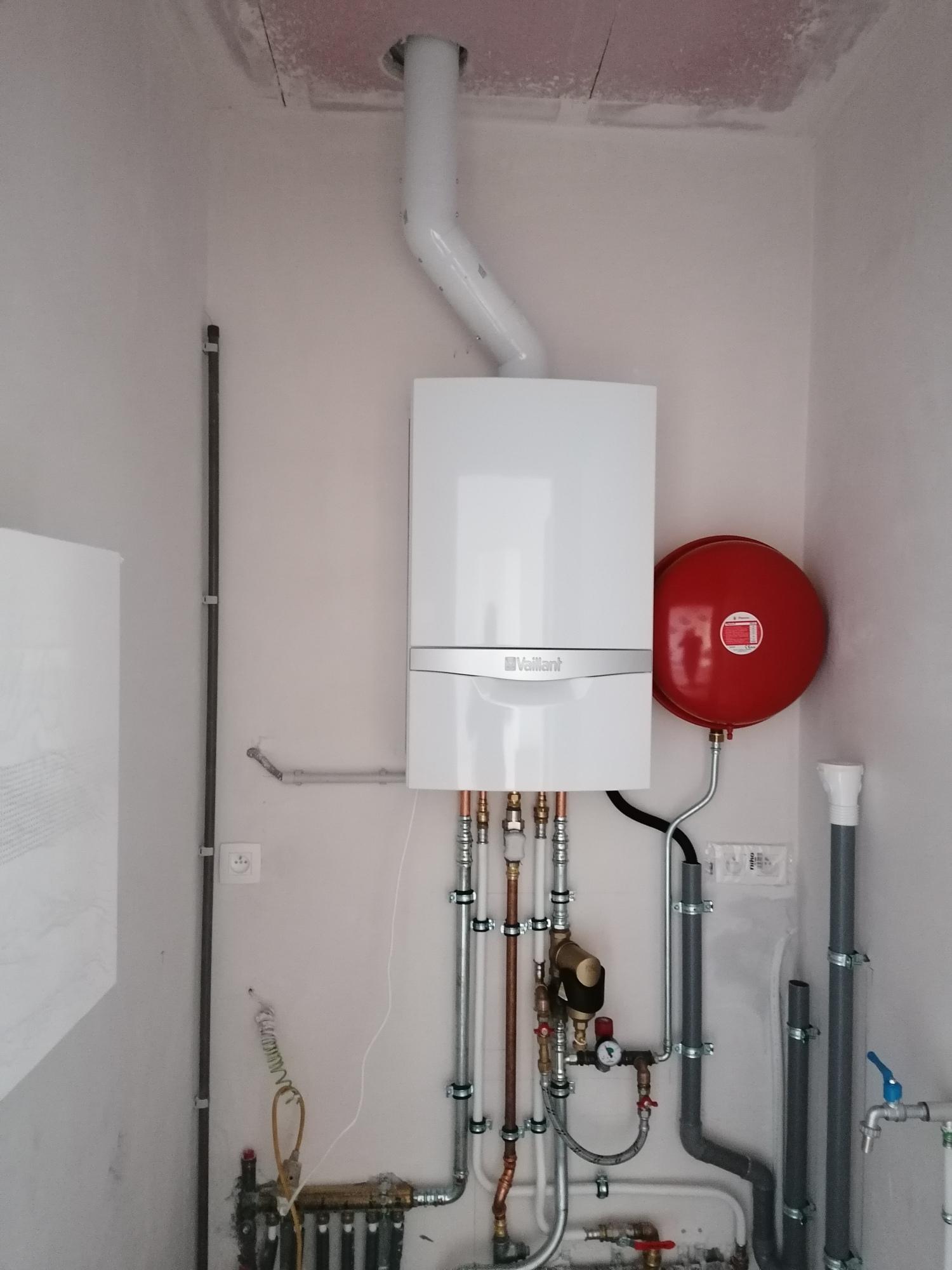 Placement d'une chaudière gaz à condensation